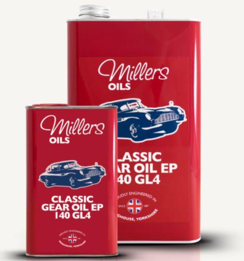Millers Classique Huile Minérale Boite de Vitesse EP 140 GL4