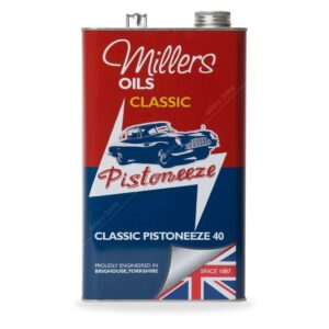 Millers Classic Pistoneeze P40 oil with low treat detergent