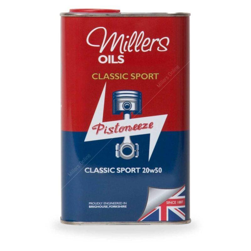 Millers Huile Moteur semi synthétique 20W50 Classique du Sport