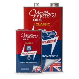 Millers Classic Pistoneeze P30 oil with low treat detergent