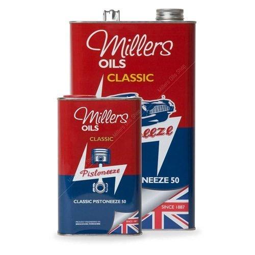 Millers Classic Pistoneeze P50 oil with low treat detergent