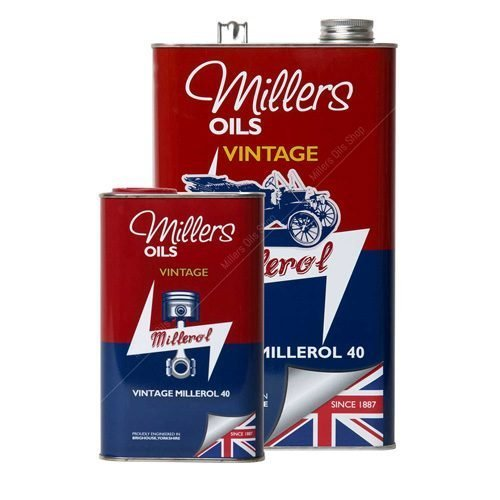Millers Classic Millerol M40 monograde oil without detergents