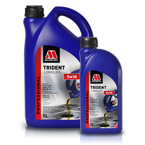 Millers Trident Longlife 5W30 Fully Synthetic Engine Oil