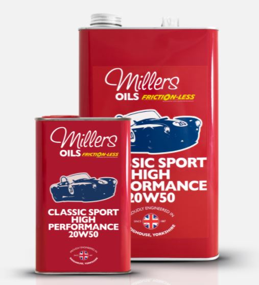 Millers Classic Sport High Performance 20W50 fully synthetic engine oil