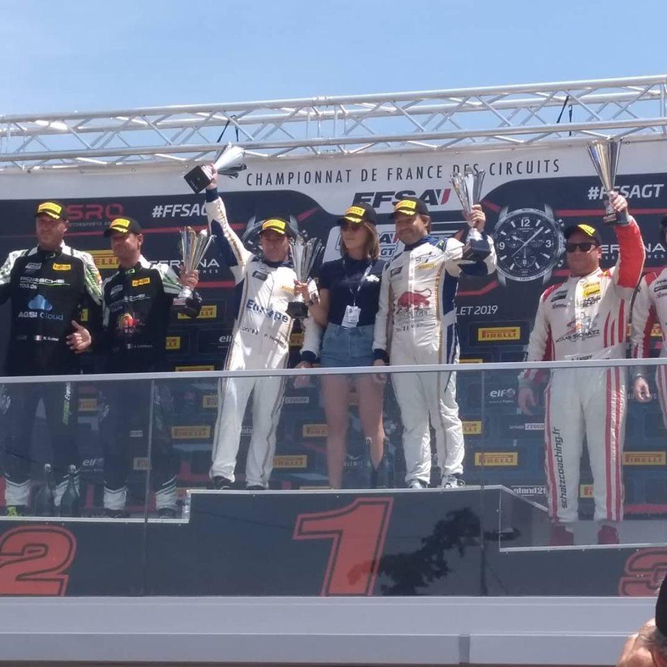 Valentin Simonet and Pascal Huteau take P1 in Race 2 at Ledenon FFSA GT4